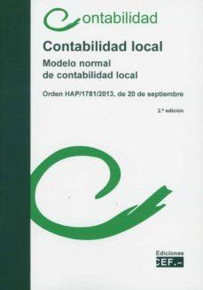 contabilidad local. modelo normal de contabilidad local-9788445438565