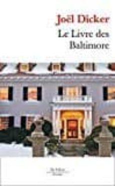 le livre des baltimore-joël dicker-9782877069731