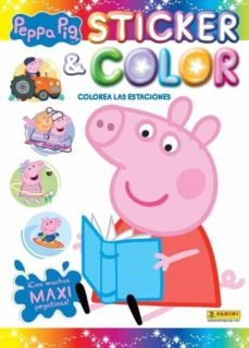peppa pig colorea las estaciones. sticker & color-9788413343907