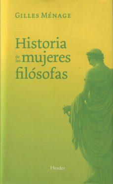 historia de las mujeres filosofas-gilles menage-9788425425813