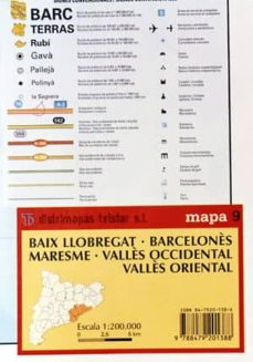 mapa 9. baix; barcelones; valles occidental; valles oriental-9788479201388