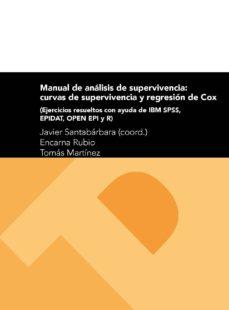 manual de analisis de supervivencia: curvas de supervivencia y regresion de cox-encarna rubio-tomas martinez-9788416933044