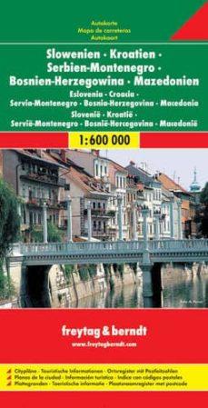 eslovenia, croacia, bosnia herzegovina, montenegro y macedonia (m apa de carreteras) (1:600000)-9783707904284